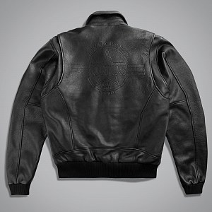 Куртка мужская LEATHER BOMBER BOMBARDIER BL.